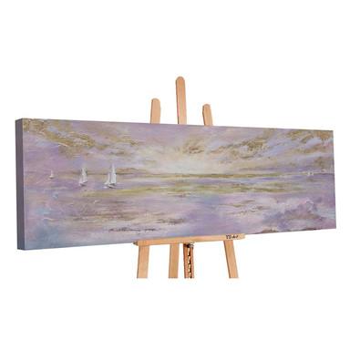 Acryl Gemälde handgemalt Sonnenstrahlen 150x50cm - Bild 1