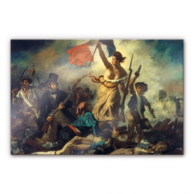 Acrylglasbild Delacroix - Die Freiheit führt das Volk