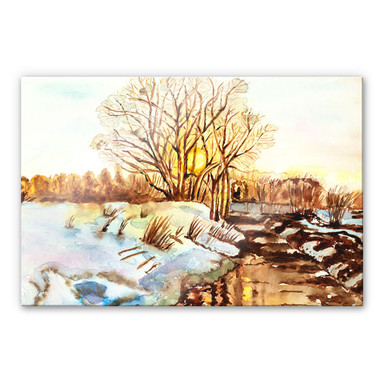 Acrylglasbild Toetzke - Goldener Winter