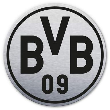 Alu-Dibond-Silbereffekt BVB Logo