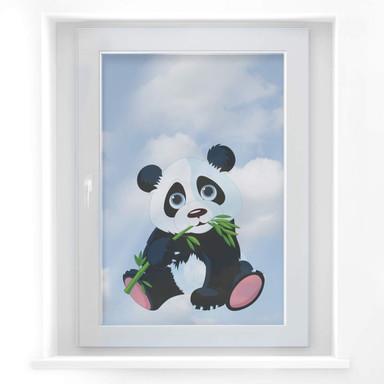 Fensterdekor Naschender Panda