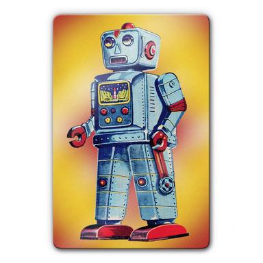 Glasbild Robot