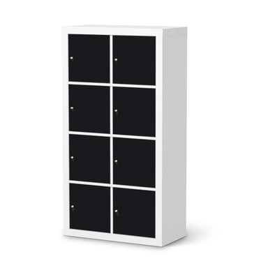 Klebefolie IKEA Expedit Regal 8 Türen - Schwarz- Bild 1