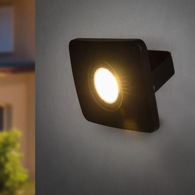LED Flutlichtstrahler Bolton 3000K IP65 in Schwarz 20W