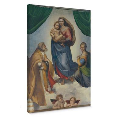 Leinwandbild Raffael - Die Sixtinische Madonna