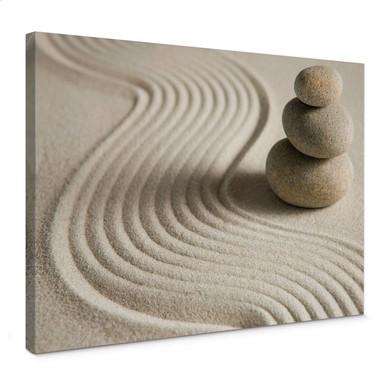 Leinwandbild Stone in Sand 2
