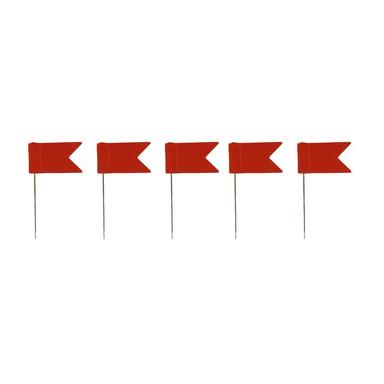 Pinnadeln Fahne (5er Set), rot - Bild 1