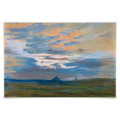Poster Delacroix - Himmelsstudie bei Sonnenuntergang