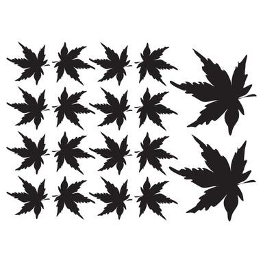 Wandtattoo Blätter-Set 13