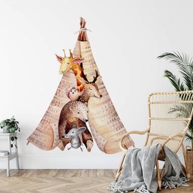 Wandtattoo Kvilis - Tiere im Tipi