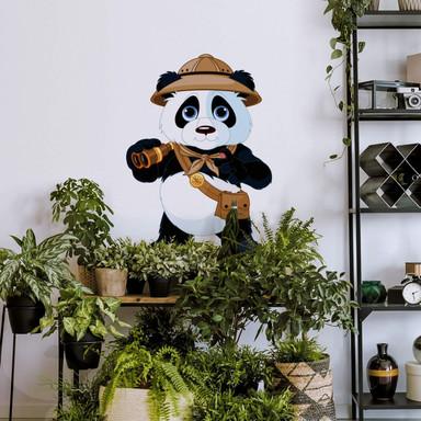 Wandtattoo Panda auf Safari
