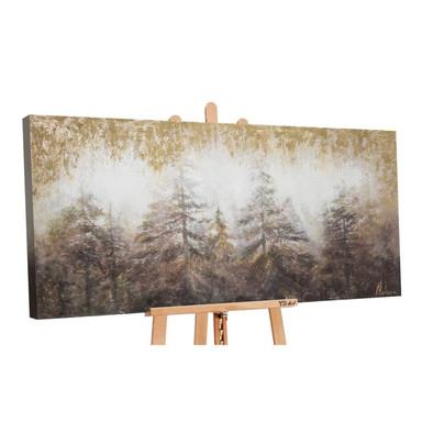 Acryl Gemälde handgemalt Morgen's im Wald 120x60cm