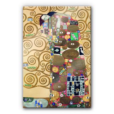 Acrylglasbild Klimt - Die Erfüllung