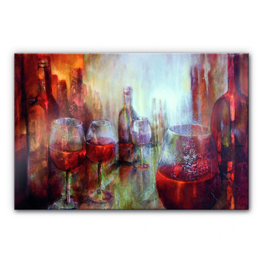 Acrylglasbild Schmucker - Später Burgunder