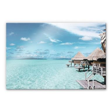 Acrylglasbild Urlaub auf den Malediven