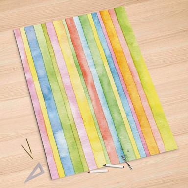 Folienbogen (100x150cm) - Watercolor Stripes