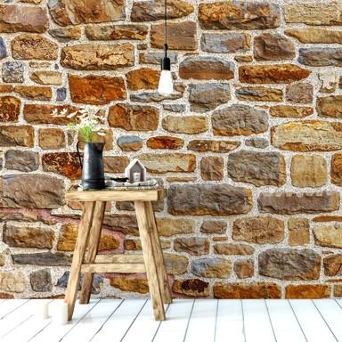 Fototapete Natursteinmauer 2 - 336x260cm - Bild 1
