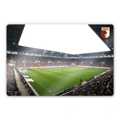 Glasbild FC Augsburg Stadion Innenansicht