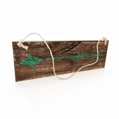 Holzschild Pfeil Grün