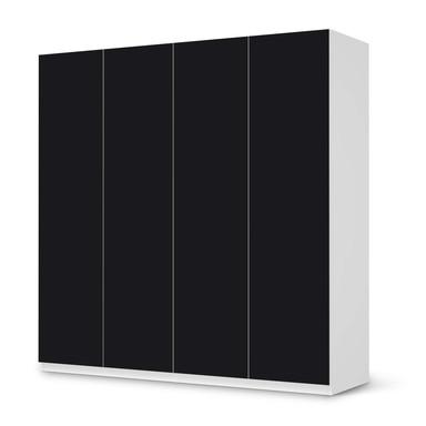 Klebefolie IKEA Pax Schrank 201cm Höhe - 4 Türen - Schwarz- Bild 1