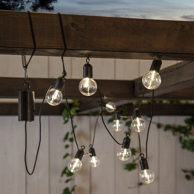 LED Lichterkette Fiesta in Transparent 10-flammig IP44