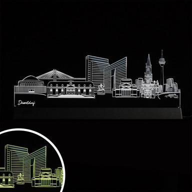 LED Skyline Düsseldorf