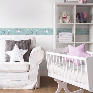 Lovely Kids selbstklebende Kinderzimmer Bordüre Sweet Unicorn mit Einhörnern