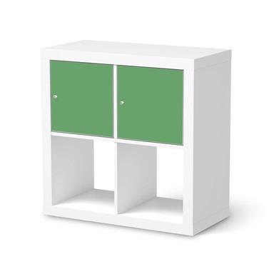 Möbelfolie IKEA Kallax Regal 2 Türen (quer) - Grün Light