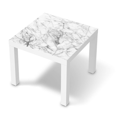 Möbelfolie IKEA Lack Tisch 55x55cm - Marmor weiss- Bild 1