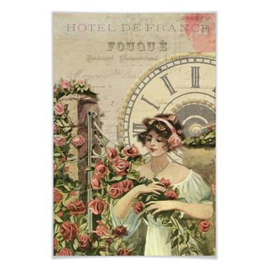 Poster Vintage Girl 03