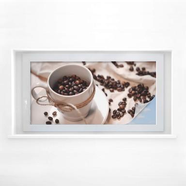 Sichtschutzfolie Kaffee Zauber - Panorama