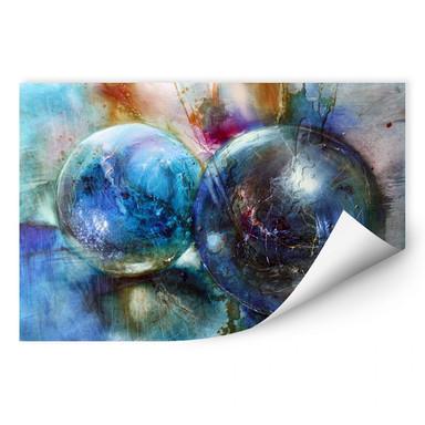 Wallprint Schmucker - Blaue Murmeln