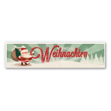 Hartschaum-Dekoschild Frohe Weihnachten