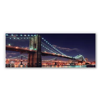 Wandbild Manhattan Bridge at Night 02