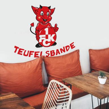 Wandsticker 1.FC Kaiserslautern Teufelsbande mit Spruch