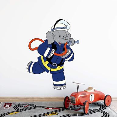 Wandsticker Benjamin als Feuerwehrmann 2
