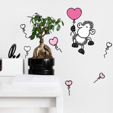 Wandsticker sheepworld Schaf mit Ballons
