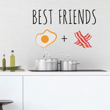 Wandtattoo Emoji Best Friends 4