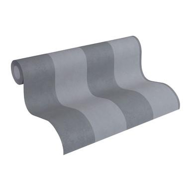 Vliestapete Premium Wall Tapete Blockstreifentapete grau