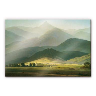 Acrylglasbild Friedrich - Berglandschaft