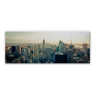 Alu-Dibond Bild Skyline von New York City - Panorama