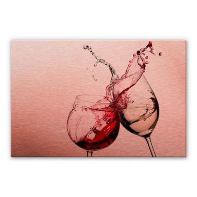 Alu-Dibond-Kupfereffekt - Weingläser