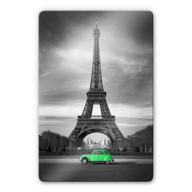 Glasbild La Vie est Belle - grün