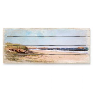 Holzbild Silva - Am Strand - Panorama