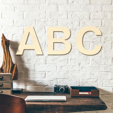 Holzbuchstaben Pappel - Schriftart Swiss