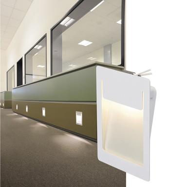 LED Wandeinbauleuchte Downunder Pur, weiss, 3000K, 120x155mm, rechteckig