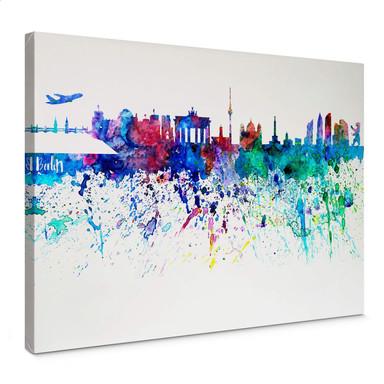 Leinwandbild Bleichner - Berlin Aquarell Skyline