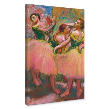 Leinwandbild Degas - Drei Tänzerinnen mit grünen Korsagen