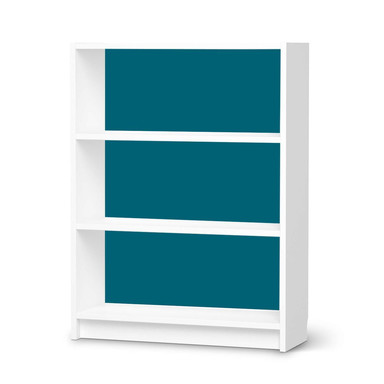 Möbelfolie IKEA Billy Regal 3 Fächer - Türkisgrün Dark