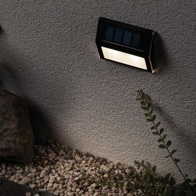 Outdoor Solar Stufen und Treppenleuchte 3000K Metall und Kunststoff Grau